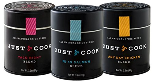Protein Lover's Gourmet Spice Gift Set: Taco Night, No. 19 Salmon, Any Day Chicken - Ready Made Blends - Just Cook 3.2 oz. Tins - Non-Irradiated, All-Natural, Great for Grilling & Baking - SET OF 3