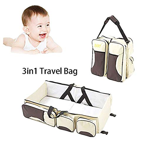 Co Sleeper Universal (Sibake 3-in-1 Universal Infant Travel Tote: Portable Bassinet Crib, Changing Station, and Diaper Bag for Newborns or Baby and Disposable Bag Dispenser)
