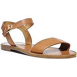 Steve Madden Women's Donddi Dress Sandal, Tan Leather, 8.5 M US