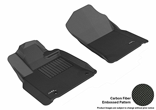 - 3D MAXpider Front Row Custom Fit All-Weather Floor Mat for Select Toyota Tundra Models - Kagu Rubber (Black)
