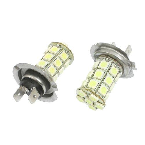 2 pices de voitures H7 blanc 5050 SMD 27 Ampoule LED brouillard conduite Lampe 12V DC
