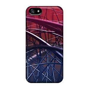 Hot Covers Cases For Iphone/ 5/5s Cases Covers Skin - Abstract Lines On Red Background
