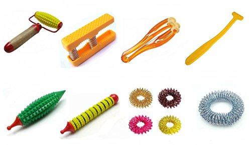 ACS/ACM/PERCARE Acupressure Handy Kit Body Energy Roller, Palm Exerciser, Finger Massager, Sujok Rings, Pencil Jimmy, K-Roll, Magnetic Jimmy, Bracelet Acupressure Handy Health Kit