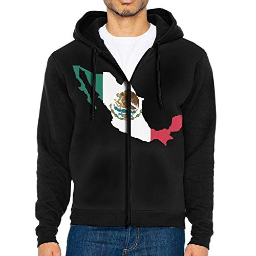 The History of The Mexican Flag Men's Custom Full-Zip Hoodie with Pocket Hooded Jacket Coats for $<!--$51.69-->