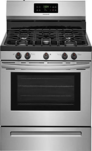 Frigidaire FFGF3054TS 30 Inch Gas Freestanding Range with 5 Sealed Burner Cooktop, 5 cu. ft. Primary Oven Capacity, in Stainless Steel (Certified ()