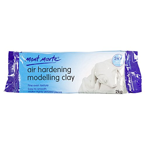 Mont Marte Air Hardening Modelling Clay White 1pack 2000g, Ideal Choice for Professional Artists or (Hardening Clay)