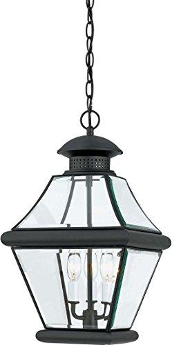 - Quoizel RJ1911K Rutledge Outdoor Pendant Lantern Ceiling Lighting, 3-Light, 180 Watts, Mystic Black (20