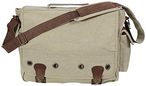Rothco Stivaletti in pelle colore Kaki & (ATB) Vintage in tela, borsa Messenger per Laptop