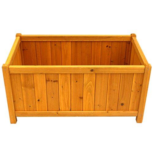 Rectangular Planter Box - Sturdy Brown Wood for Durability