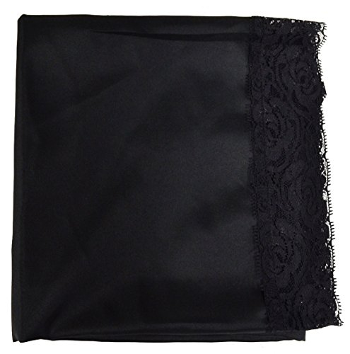 Church Lap Cover: Lace Shawl in 5 Colors (Black)