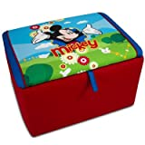 Kidz World 554654 Disney's Mickey Mouse Storage Box, Red