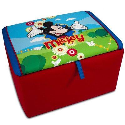 Kidz World 554654 Disney's Mickey Mouse Storage Box, Red