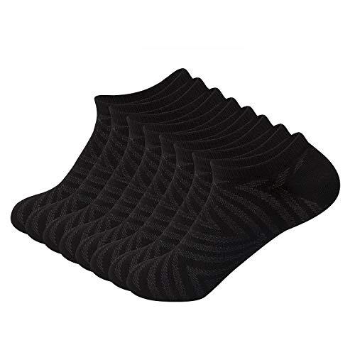 Sock Amazing No Show Socks Black Bamboo Socks for Men Women 8 Pack Casual Socks