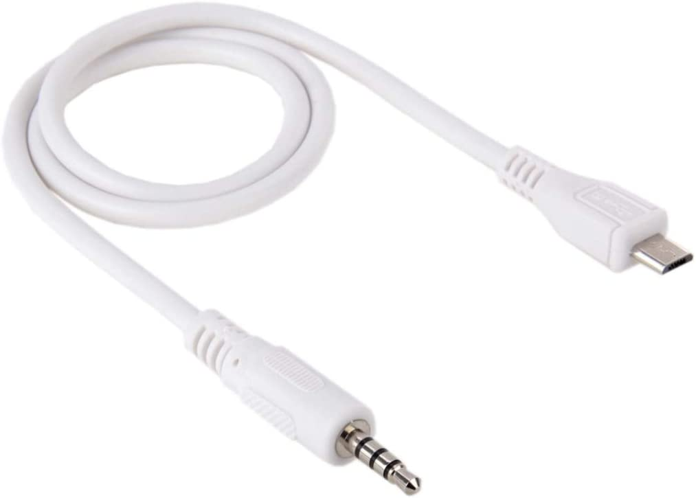 Length LIYUNSHU 3.5mm Male to Micro USB Male Audio AUX Cable About 50cm