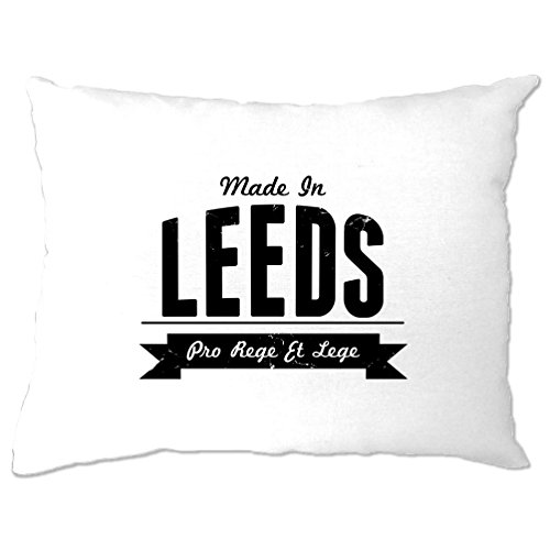 Made in Leeds Roundhay Kikstall Abbey House Museum Thwaite Mills Meanwood Valley Distressed Pillow Case Cool Funny Gift Present Home Bedroom Bed (Roundhay Christmas Park)