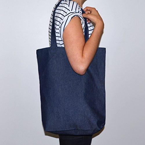 BYKI designs , Borsa da spiaggia  Unisex - Adulto blu Dark Blue