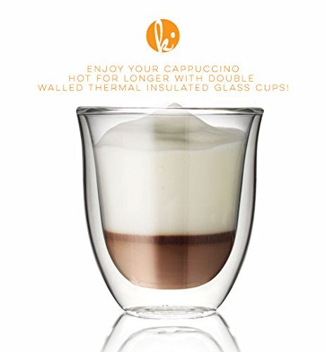 Review Glass Cappuccino Cups Double