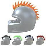 Helmet Mohawk: Flexible Rubber Sawblade Mohawk Accessory for Motorcycle Helmets, Snowboard Helmets, and other outdoor sports helmets. (1pack, Orange)