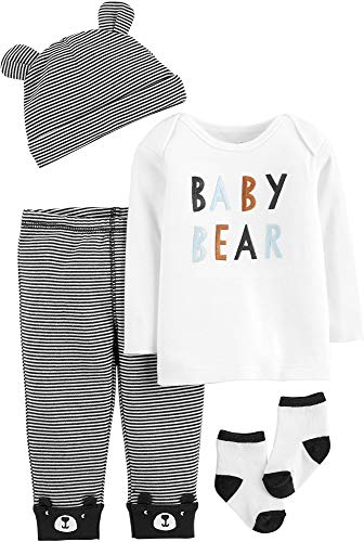 Carter's Baby Boys' 4-Piece Babysoft Take-Me-Home Set (Baby Bear, 12 Months)