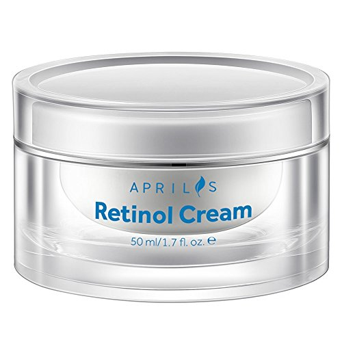 Aprilis Retinol Moisturizer Cream for Face & Neck, Anti-Aging Night Cream with Active Retinol, Hyaluronic Acid and Vitamin E, Reduces Wrinkles, Acne and Stretch Marks, 50 ml, 1.7 fl. oz ()