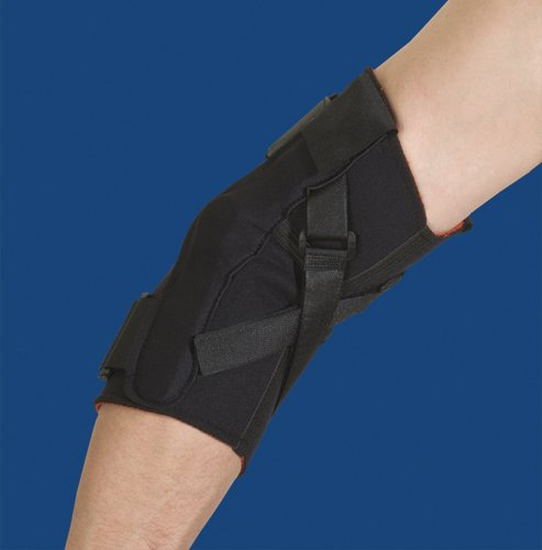 SPECIAL PACK OF 3-Thermoskin Hinged Elbow Large Black by Marble Medical