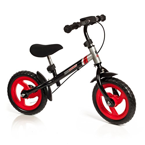 High Bounce Balance Bike Adjustable from 11-16 With a Hand Brake (Black)