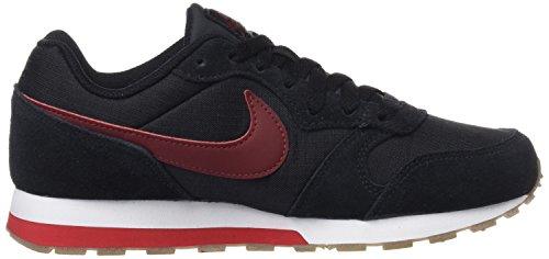 Nike Jungen MD Runner 2 (GS) Low-Top Mehrfarbig (Black/dark Team Red/university Red)