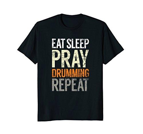 Christian Bass Drum (Eat Sleep Pray Drumming Repeat, Christian Drum Music Shirt)