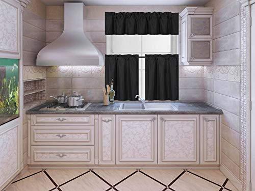 Black Kitchen Curtain - 9