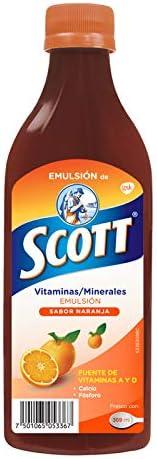 Emulsión de Scott Multivitamínico Sabor Naranja 369ml