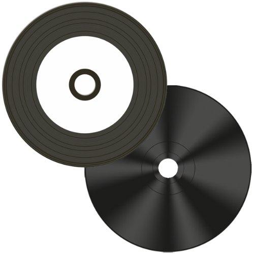 Digital-Vinyl =White Inkjet Hub= Diamond Black Record Surface 52X CD-R's 100-Pak by GenesysDTP