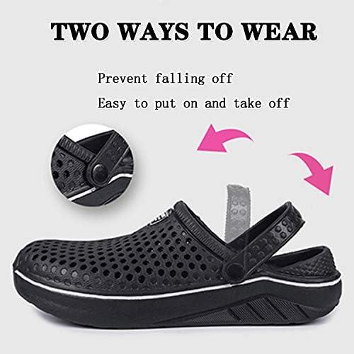 Brfash Hombres Zuecos Zapatillas de Playa Zapatillas de Jard/ín Respirable Malla Ahueca hacia Sandalias Clogs Verano Zapatos de Interior Exterior del Deslizador
