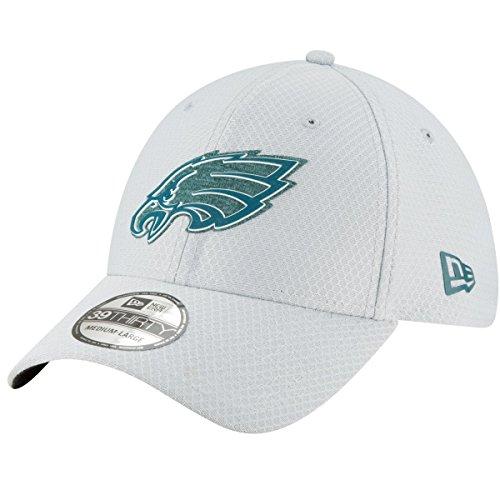 New Era Mens Gray Philadelphia Eagles 2018 NFL Training Camp Official 39THIRTY Flex Hat (Medium/Large)