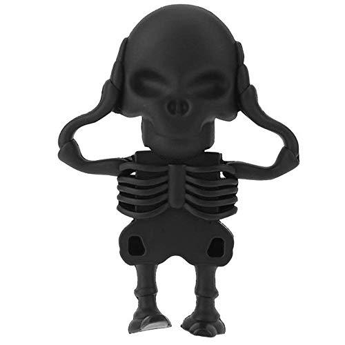 (Usbkingdom 32GB USB 2.0 Flash Drive Novelty Black Skull Skeleton Shape Pen Drive Thumb Drive Memory Stick Pendrive Jump Drive Flash Disk )