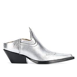 Maison Margiela Women's Lamé Slippers Shoes