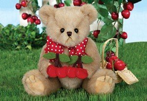 (Bearington Collection Beary Cherry Teddy Bear Stuffed Animal Toy 10