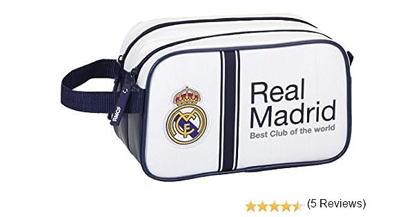 Safta Real Madrid - Neceser 2 Cremalleras, 1ª equipacion Temporada 2016/2017 811654518: Amazon.es: Juguetes y juegos