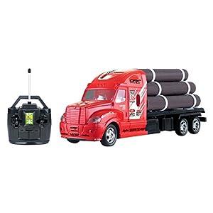 R/C Remote Control Semi Truck Tractor Trailer Flatbed w/ Logs