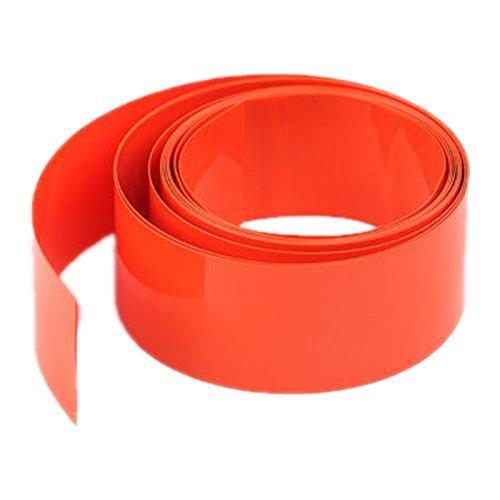 Heat Shrink Tubing - TOOGOO(R) 2M 29.5MM ¦ µ 18.5MM PVC Heat Shrink Tubing Wrap For Li-ion 18650 18500 Battery orange 060896A3