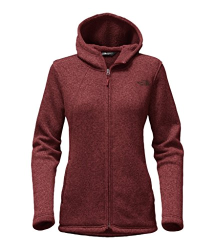The North Face Women's Crescent Full Zip Hoodie - Barolo Red Heather - M (Past Season) (North Face Womens Indi Fleece Hoodie Jacket)