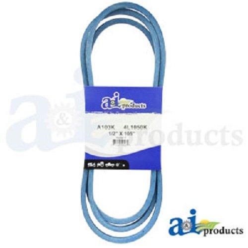 V BELT A103K A-SECTION MADE WITH KEVLAR 1//2 X 105 BLUE