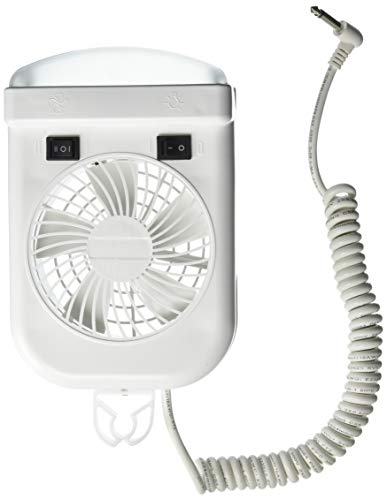 - Lumitronics RV 12V Interior Reading Light - 2-Speed Fan, Extendable Cord, On/Off Switch