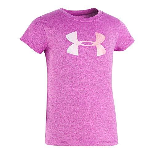 Under Armour Girls' Little Wordmark Logo Short Sleeve Tee, Strobe-S19, 5 ()