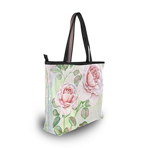 Hombro Vintage Totalizador Rose De Alaza Del Grande Bolso Acuarela qEzBgCw