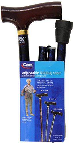 Carex Designer Folding Cane Blue