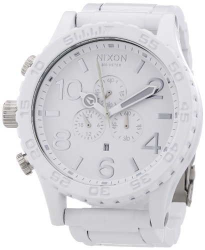 (Nixon 51-30 Chronograph White Dial White PVD Mens Watch A0831255)