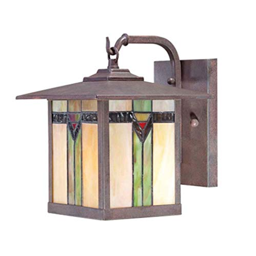 Outdoor Wall Light Stained Glass in US - 4