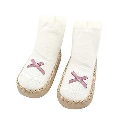 SMALLE ??? Clearance,Newborn Baby Boys Girls Letter Bownot Floor Socks Anti-Slip Baby Step Socks