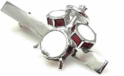 f377beb7da07 Drum Set Drummer Gift Band Rock N Roll Music Tie Clip Wedding Bar Clasp
