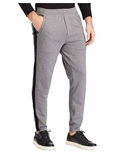 ns Big & Tall Interlock Athletic Track Pants (LT, Grey/Black) ()